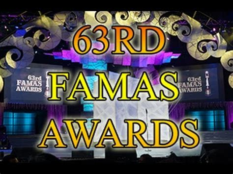 63rd famas awards 2015 63rd famas awards youtube