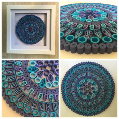 design house decor etsy items similar to quilling artwork floral mandala paper art