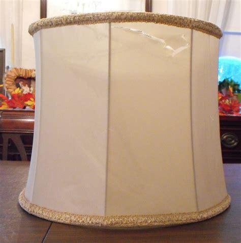 vintage silk l shades pair 2 vintage stiffel l shades 16 quot drum barrel beige