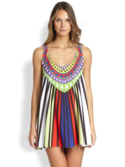mara hoffman swing dress mara hoffman rays jersey swing mini dress in multicolor