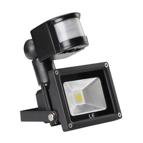 le 100w le 10w motion sensor security light led flood lights 100w equivalent daylight white