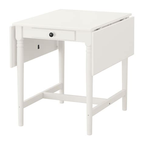 White Drop Leaf Table Ingatorp Drop Leaf Table Ikea
