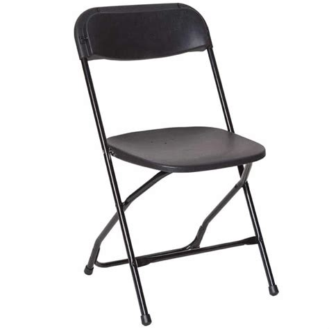 foldable chair am pfc black poly folding chair the furniture family