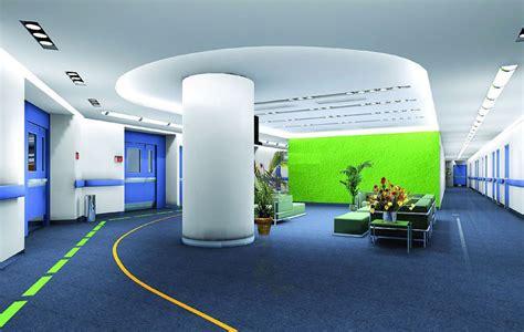 biru dan hijau untuk interior kantor kreatif rooang