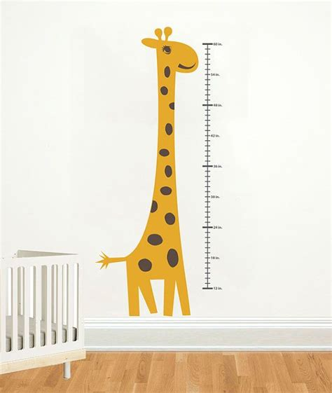 growth charts for rooms height chart wall decal giraffe growth chart by decallab on etsy 59 00 zoo playroom