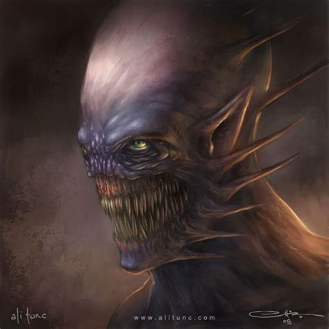 creature face  ali tunc  deviantart
