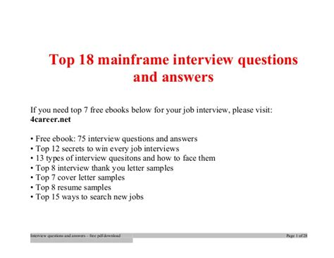 top mainframe questions and answers questions with answers