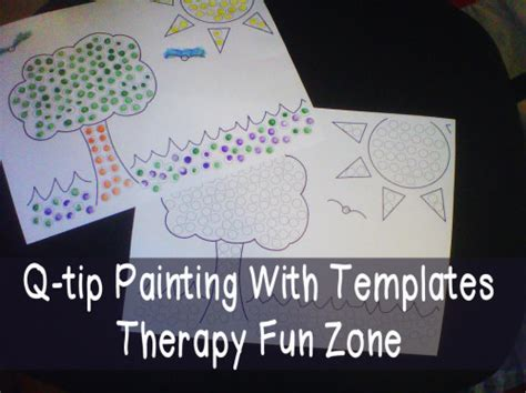 card templates for paint net q tip painting with templates therapy zone