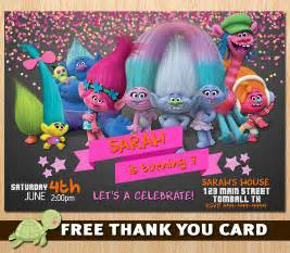 trolls invitation for birthday trolls new 2016