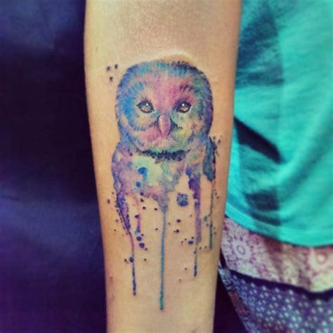 tattoo arm watercolor watercolor owl tattoo on arm tattooimages biz