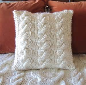 Name knitting super chunky cable 18x18 pillow cover