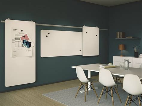 whiteboard design at home wall mounted sliding office whiteboard moow by abstracta
