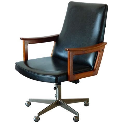 Mid Century Modern Desk Chair Mid Century Modern Teak Desk Chair In The Style Of Arne Vodder At 1stdibs