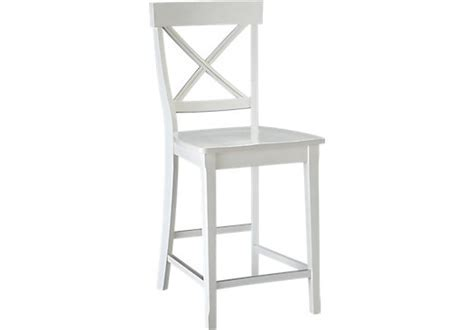 Brynwood White Counter Height Stool   Traditional