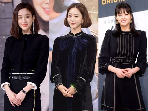 film korea terbaru hits gaya classy serba hitam para aktris utama di jumpa pers