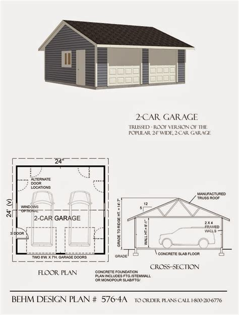 garage workshop designs garage plans blog behm design garage plan exles plan 576 4a reverse gable 2 car garage
