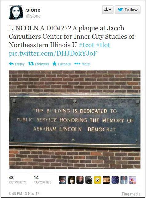 abe lincoln democrat illinois proudly displays plaque honoring