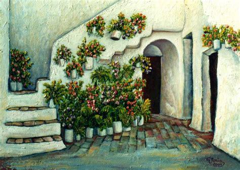 pinturas de patios andaluces patio andaluz gloria garcia nu 241 ez artelista
