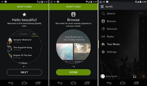 spotify app android spotify for android gets a new look adds a few other changes