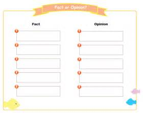 Opinion Template by Fact Opinion Graphic Organizer Free Fact Opinion Graphic