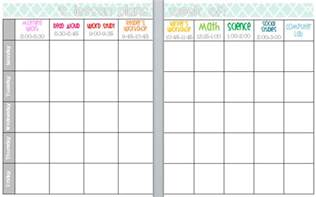 plan book template elementary organization two updated lesson plan templates