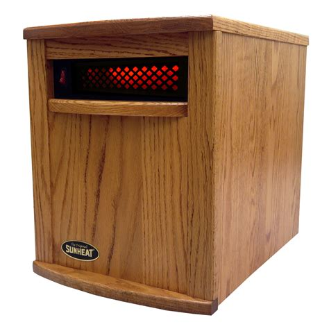 Amish Fireplace Heater Reviews by Amish Crafted Sunheat Infrared Heater Nebraska Oak