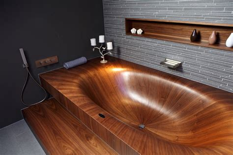 what is a bathtub made of elegant bathtubs made entirely of wood 171 twistedsifter