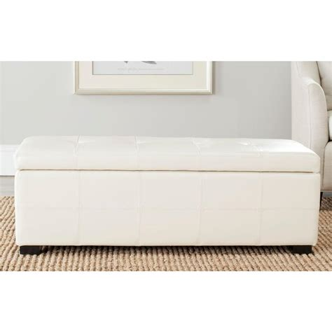 cream bench safavieh maiden flat cream storage bench hud8229k the