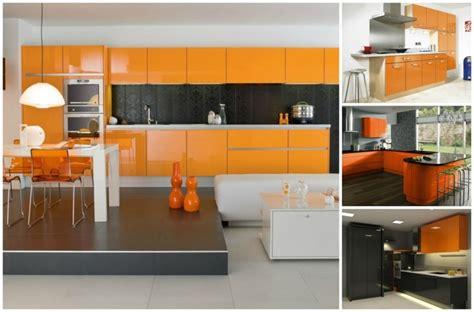 Modern Art Deco Architecture Cuisine Couleur Orange Pour Un D 233 Cor Moderne Et 233 Nergisant