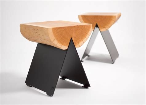 Modern Stool Made From Half Of Tree Trunk 1 2 Stool