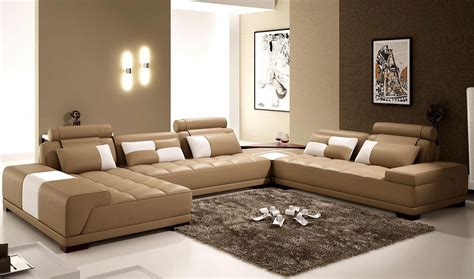 living room exles the interior of a living room in brown color features