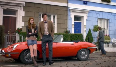 Doctor After Car by Jaguar E Type On Dr Who