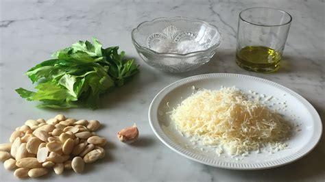 ricette con foglie di sedano ricetta pesto con foglie di sedano e mandorle riciblog