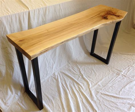 Live Edge Console Table Live Edge Console Table Wood Slab Console By Urbanwoodllc On Etsy