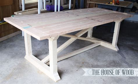 diy kitchen table plans how to build a farmhouse table
