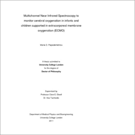ucl thesis abstract multichannel near infrared spectroscopy to monitor