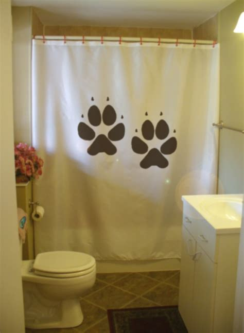 puppy shower curtain the gallery for gt scottie dog outline