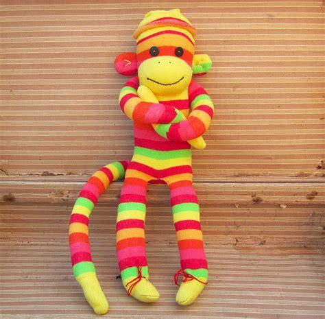 Handmade Sock Monkeys For Sale - handmade colourful sock monkeys by precious plum