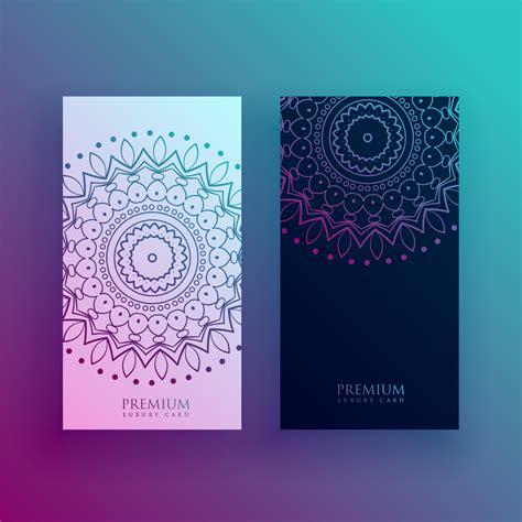 beautiful mandala card design templates