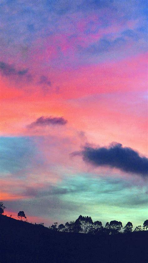 ng sky rainbow cloud sunset nature blue pink wallpaper