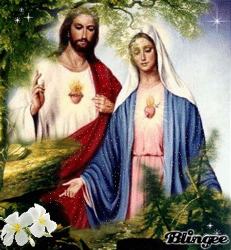 Imagenes De Jesus Y La Virgen Maria Juntos | jesus e maria picture 124039330 blingee com