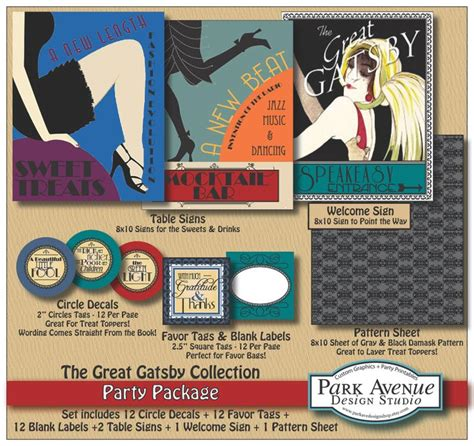 theme of ethics in the great gatsby custom diy printable great gatsby roaring 1920 s party