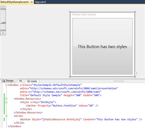 advanced wpf part 3 of 5 styles in windows presentation
