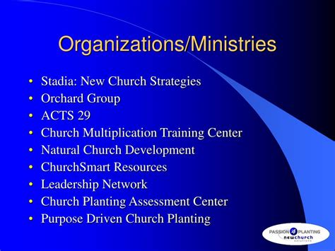 Church Planter Assessment by Ppt Survey Of Available Church Planting Resources