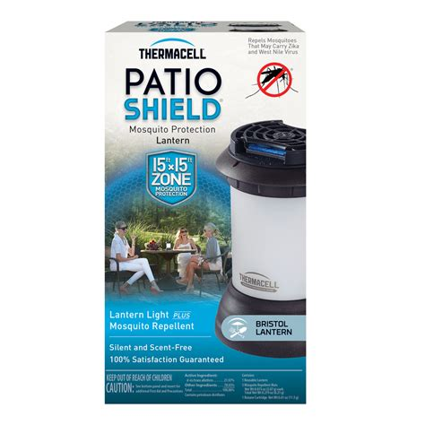 shop thermacell patio shield bristol mosquito repellent lantern at lowes com
