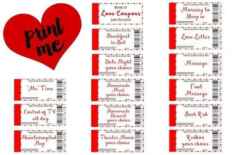 free printable love coupons for wife free printable love coupons the perfect gift