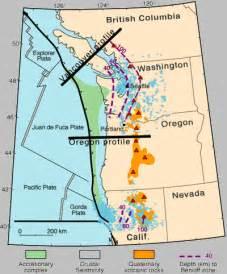 oregon fault line map oregon volcano earthquakes