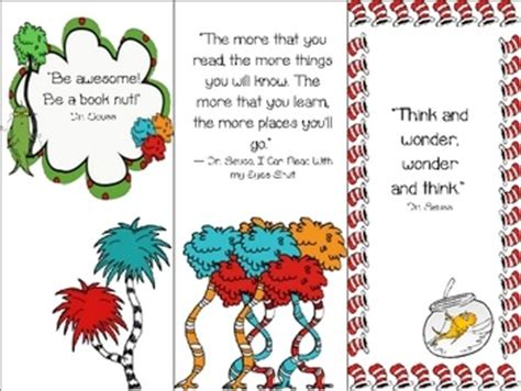 free printable lorax bookmarks 483 best images about dr seuss read across america on