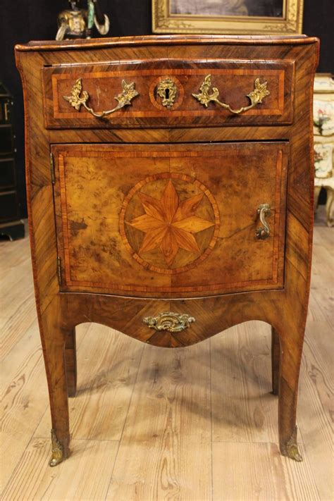 marble top bedside table 19th century inlaid bedside tables with marble top at 1stdibs