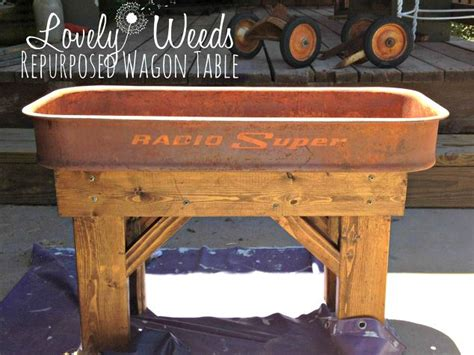 vintage this repurpose that repurposed vintage wagon table hometalk